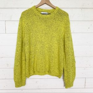 Urban Outfitters Neon Chartreuse Knit Sweater